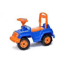 Машинка каталка 4 х 4 (сине-оранжевая) 549_С