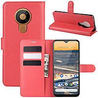 Чехол-книжка Litchie Wallet для Nokia 5.3 Red