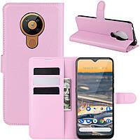 Чехол-книжка Litchie Wallet для Nokia 5.3 Pink