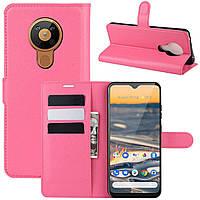Чехол-книжка Litchie Wallet для Nokia 5.3 Rose