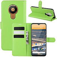 Чехол-книжка Litchie Wallet для Nokia 5.3 Green