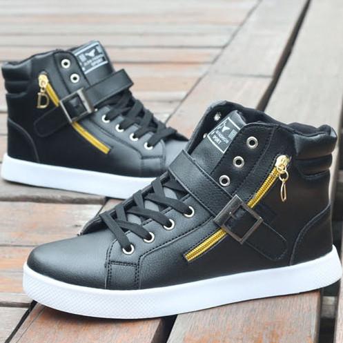 Модные мужские высокие кроссовки. Модель 04228-н