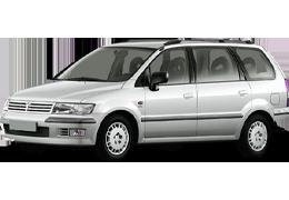 Дефлектор на капот (Мухобойки) для Mitsubishi (Мицубиси) Space Wagon(Chariot) `98-04