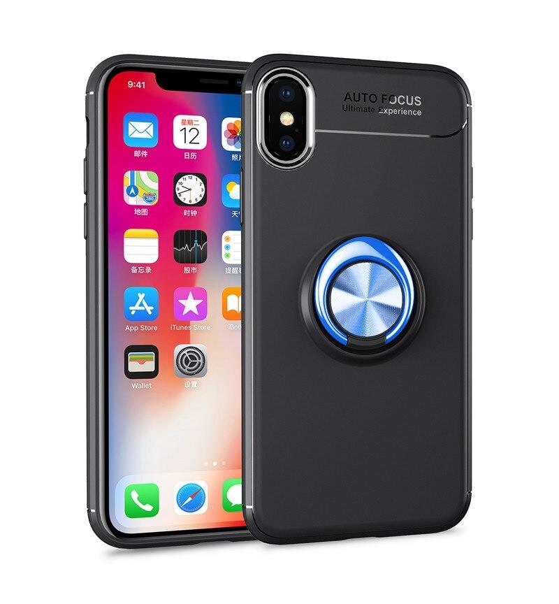 Чохол Fiji Hold для Apple Iphone XS Max бампер накладка з підставкою Black-Blue