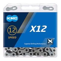 Цепь KMC X12 Silver/Black для 12 скоростных трансмиссий велосипеда