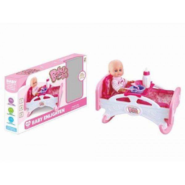 """Пупс с кроваткой и набором аксессуаров """"Baby Bed"""" SPL241422"""