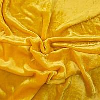 Бархат ШЕЛКОВЫЙ Винтажный Основа для Вышивки 30*25 см ЯНТАРЬ ЖЕЛТЫЙ