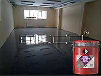 ЕЛАСТОТЕТ-ВЛ КОЛОР сірий (20 кг) Однокомпонентне поліуретанове жорстко-еластичне покриття для підлог., фото 1