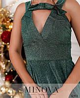 Праздничное платье на широких лямках, украшенное блёстками с 42 по 46 размер, фото 4