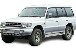 Дефлектор на капот (Мухобойки) для Mitsubishi (Мицубиси) Pajero 2 (V20)/Wagon1 91-97