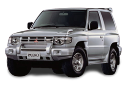 Дефлектор на капот (Мухобойки) для Mitsubishi (Мицубиси) Pajero 3 (V60)/Wagon2 97-06