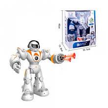 """Робот на радиоуправлении """"Lezo Aerla"""", стреляет присосками (бело-оранжевый) 99888-2"""