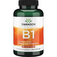 Витамин В1, Vitamin B-1  Тиамин Swanson  (100 мг) 250 капс.