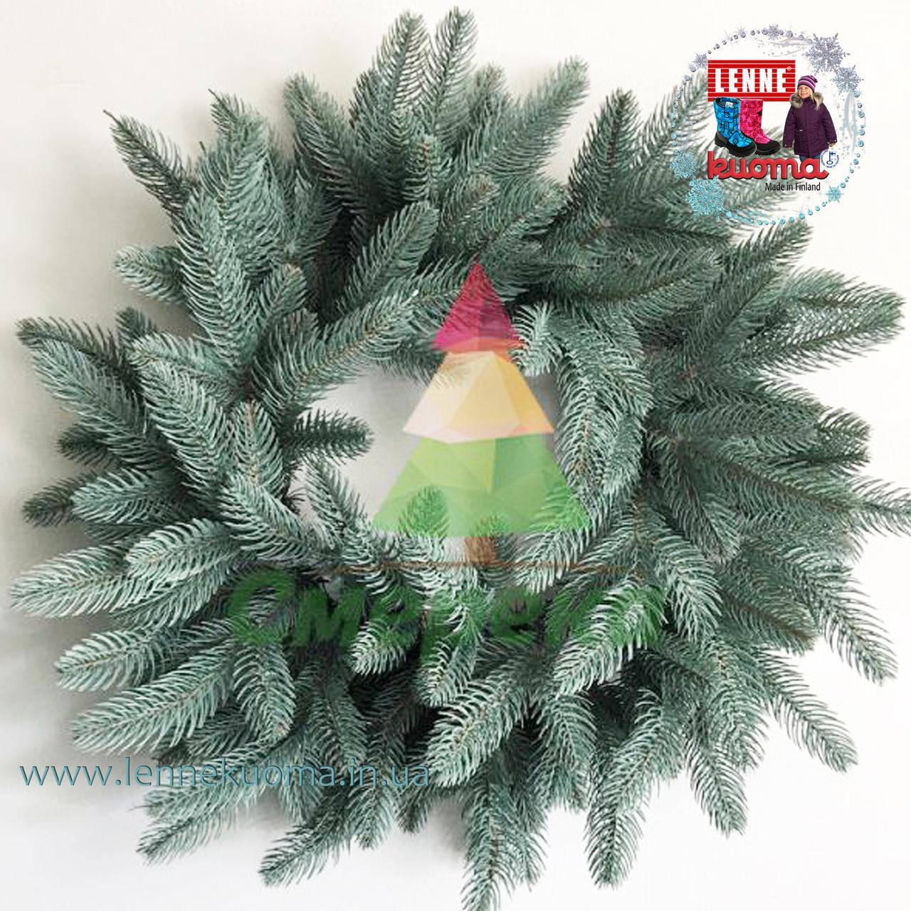 Венок рождественский Премиум голубой