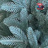 Венок рождественский Премиум голубой, фото 2