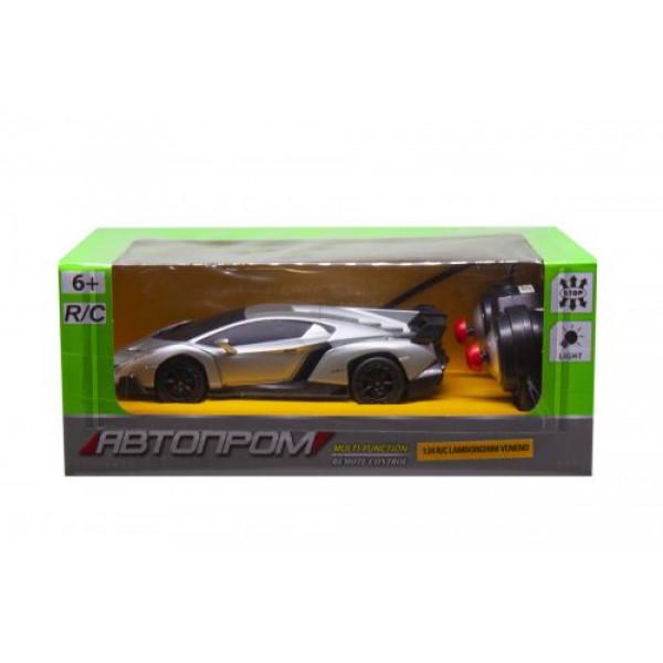 "Машина на радиоуправлении ""Lamborghini Veneno"" из серии ""Автопром"" (серебристая) 8808"