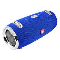 Портативная беспроводная bluetooth бумбокс юсб колонка для музыки блютуз акустика для телефона синяя