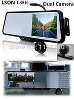 Зеркало заднего вида HDобзор 140 град. Видеорегистратор, видеокамеры - 2, bluetooth, видео \ аудио.