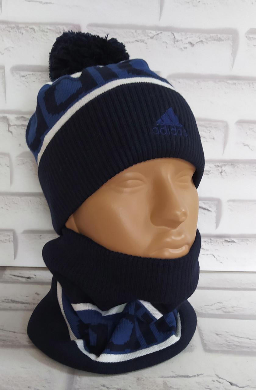Детский комплект (шапка и шарф- снуд ) на 6-12 лет