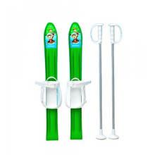 Детские Лыжи KIDS SKI, 70 см Зеленые