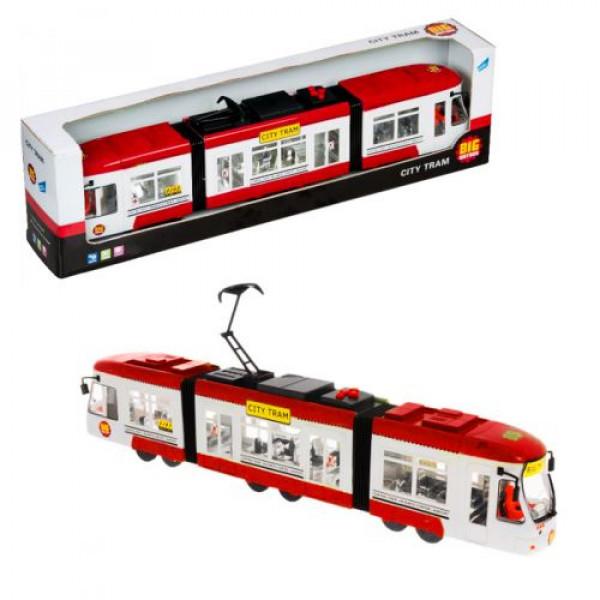 Городской трамвай City Tram, красный
