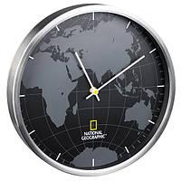 Часы настенные National Geographic World Map Aluminium (9080000)