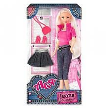 """Лялька Ася з аксесуарами """"Jeans Collection"""" (блондинка) 35089"""