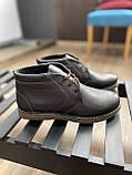 Мужские ботинки кожаные зимние коричневые Yuves 801, фото 4
