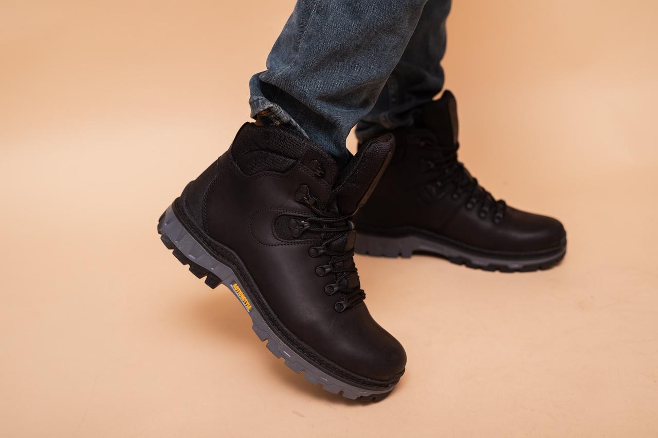 Мужские ботинки кожаные зимние черные Step Wey 5255
