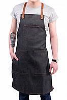 Фартук Baker Smith Churchill (Джинсовый с кожаными шлейками)