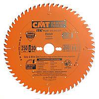 Пильный диск CMT 250x30x60z K2.4x1.6 (272.250.60M) ITK PLUS для универсального реза