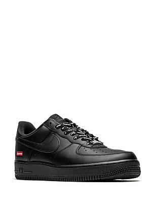 "Кроссовки Nike Air Force 1 '07 Supreme Black ""Черные"", фото 2"