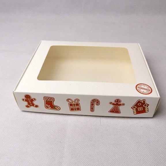 """Коробка 192*148*40 для пряника з вікном, """"Імбирне печиво"""""""