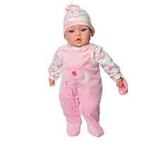 Детский мягконабивной музыкальный интерактивный пупс Мой малыш M 3859 UA 36 см. Кукла мягкая большая детская