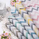 Ткань поплин с разноцветными зигзагами, фото 2