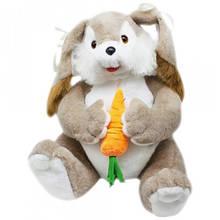 Среднняя мягкая игрушка Зайка Катя 65 см