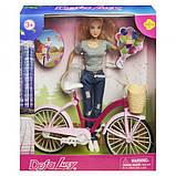 Defa Lucy Кукла с велосипедом, Серые, фото 2
