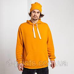 Толстовка худи мужская оранжевая
