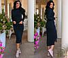 Сукня жіноча міді чорне з ангори КВ/-211095