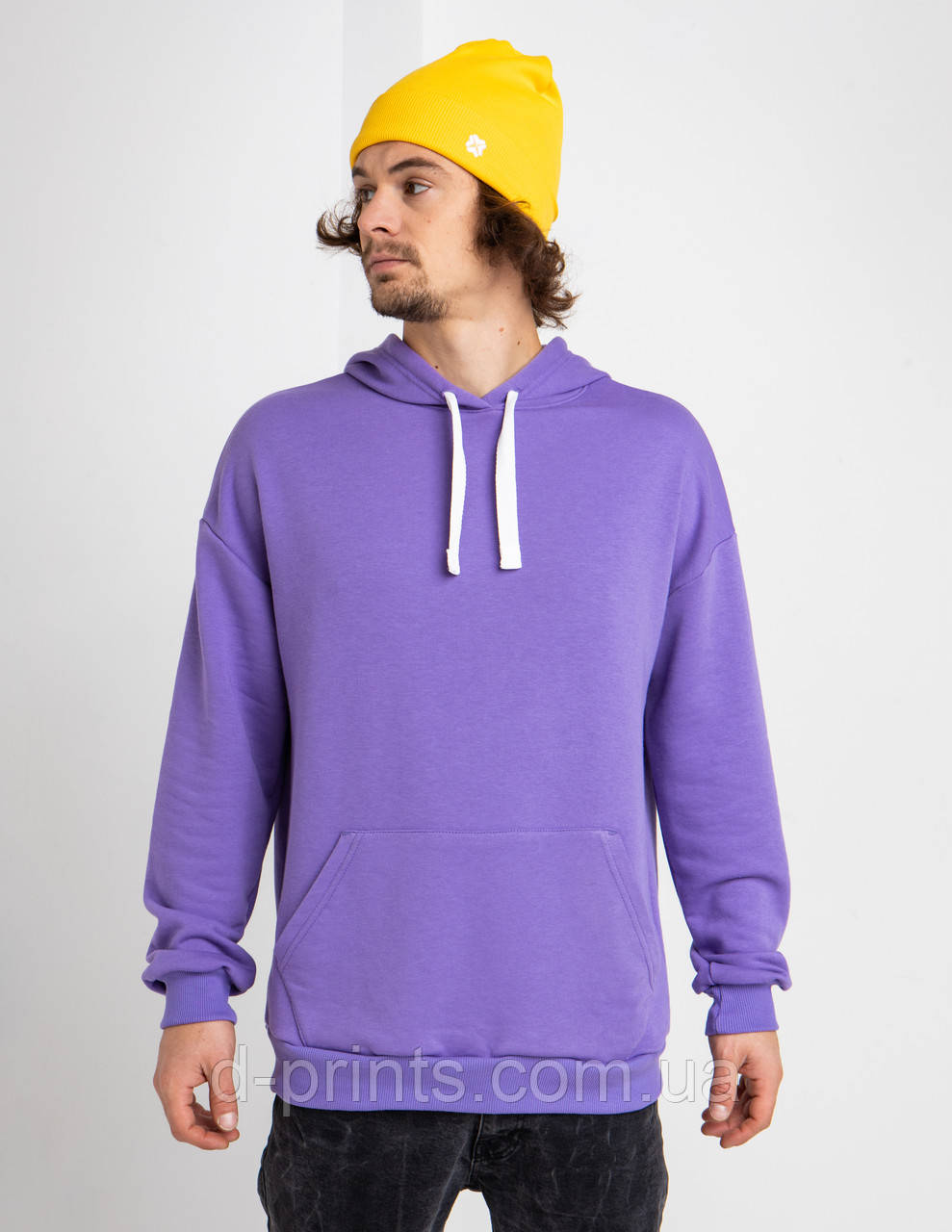 Толстовка худі чоловіча фіолетова