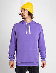 Толстовка худи мужская фиолетовая