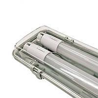 Промисловий світильник лінійний Led IP65 1200 мм 36W+2LED лампи PRO Т8 6400K, фото 1