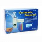 Автоматический дозатор зубной пасты Toothpaste Dispenser с держателем зубных щеток