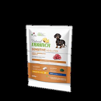 Сухой корм Trainer Dog Sensitive Adult Mini для взрослых собак мини пород с ягнятиной, 0,8 кг