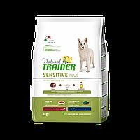 Сухий корм Trainer Dog Sensitive Plus Adult MM для дорослих собак середніх та великих порід з кониною, 3 кг
