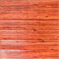 Декоративная 3д панель самоклеящаяся стеновая под Красное Дерево