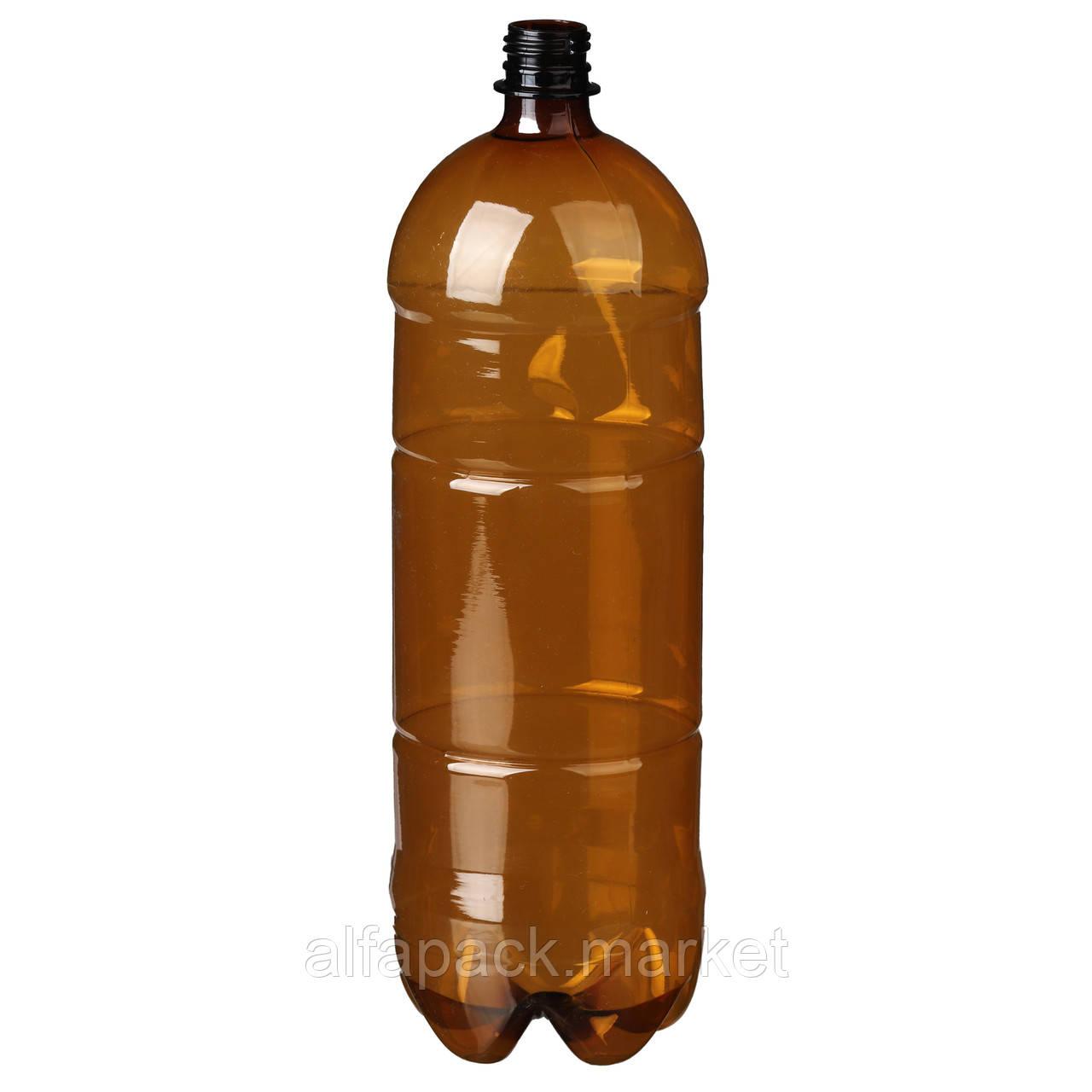 Бутылка пластиковая 2 л., коричневая (60 шт в упаковке) 061100052