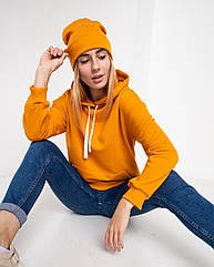 Толстовка худи женская оранжевая