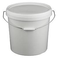 Ведро 21 л. пластиковое для пищевых продуктов, белое 020000039