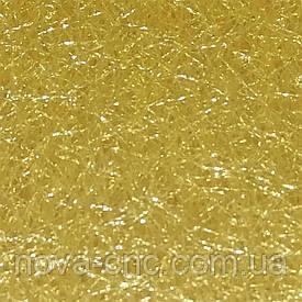 Декоративна сітка-павутинка в блискітках 100 х 150 см Колір золотисто-пісочний